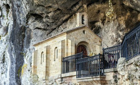 Holy cave of Covadonga.
