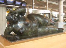 Escultura Botero en aeropuerto de Palma de Mallorca