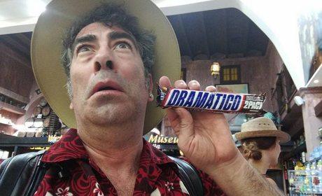 El cómico Agustín Jiménez durante un viaje. Foto: cedida