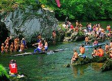 Fiesta de las Piraguas. / Cedida por: Oficina de Turismo de Ribadesella.