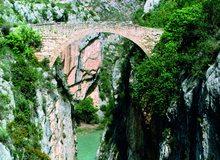 Puente del Diablo entre Graus y Barbastro
