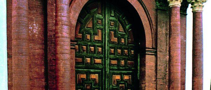 Fachada de la iglesia de Macharaviaya