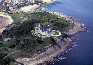 Vista aérea del palacio de la Magdalena