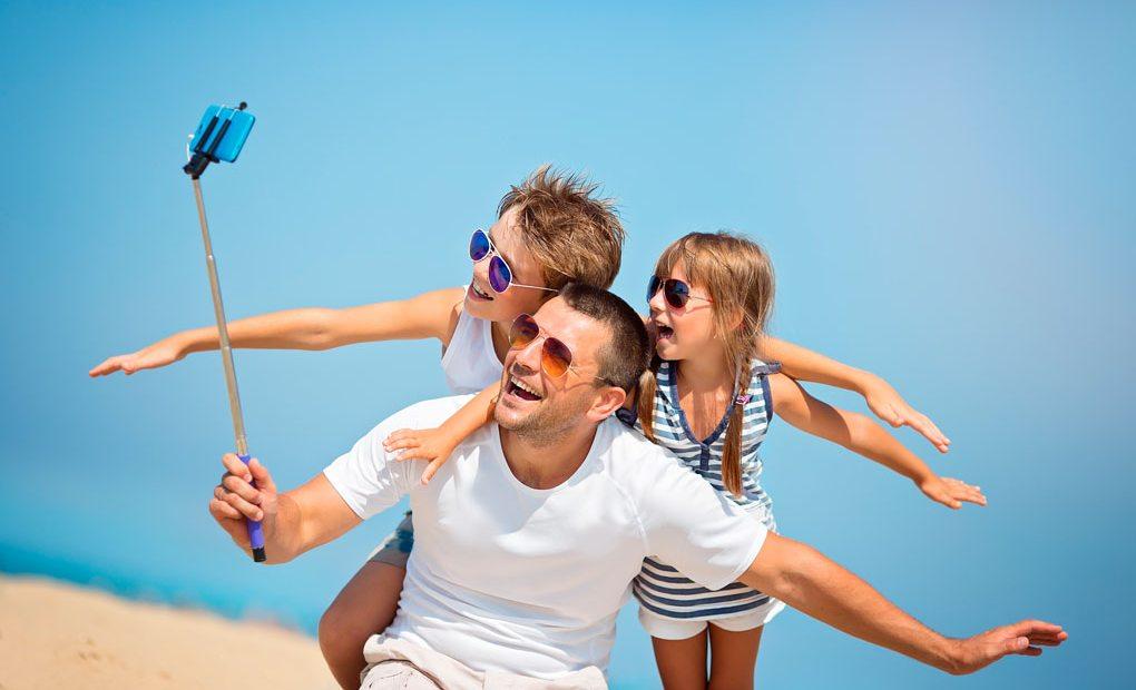 Selfie en familia. Foto: shutterstock