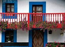 Casa típica de Cantabria, en Vega de Pas