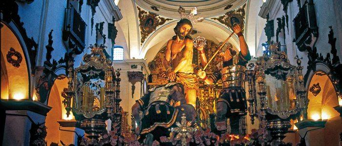 Interior de la iglesia lorquina de San Francisco