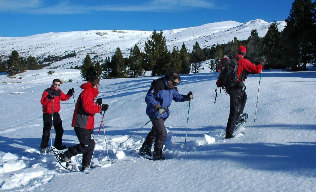 Raquetas de nieve. Foto: Alfredo Merino