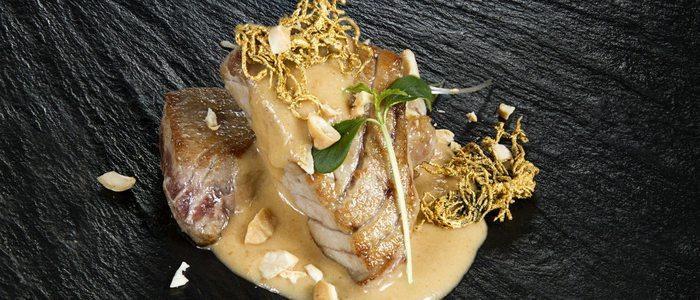 Mormo de atún rojo al pan frito y ogonogori, El Campero
