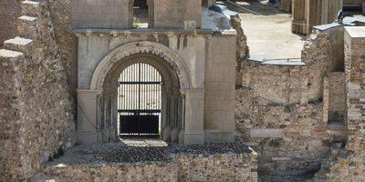 Detalle Catedral de Santa María la Vieja, Cartagena.