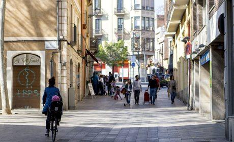 Calle Major, Sarrià, Barcelona. Foto: César Cid