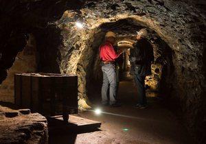 En el interior de las minas de Almadén