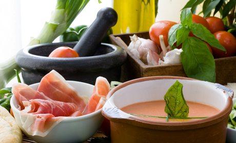 Salmorejo e ingredientes