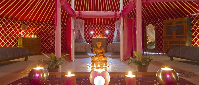 Interior de la Royal Yurt, Lanzarote Retreats