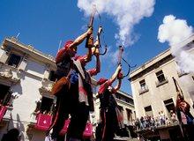 Trabucaires en las fiestas de Vilafranca