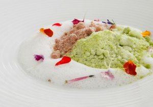 Hierba fresca con helado de foi gras en polvo, Francis Paniego