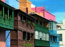 Balcones tradicionales de Santa Cruz de La Palma