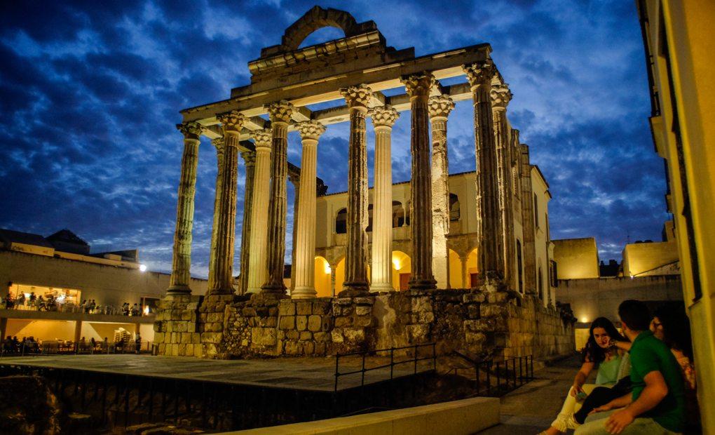 Templo de Diana, Mérida. Foto: Hugo Palotto