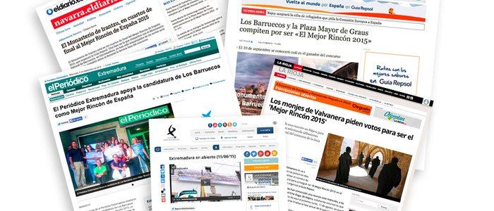 La prensa nacional y local han recogido las acciones realizadas por los vecinos en apoyo a sus rincones