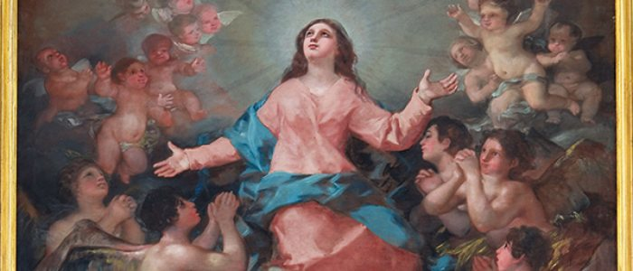 La Asunción de la Virgen, de Francisco Goya, en la iglesia de la Asunción de Chinchón