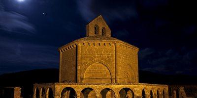 Noche en Santa María de Eunate