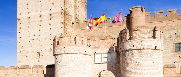 Detalle exterior del Castillo de la Mota