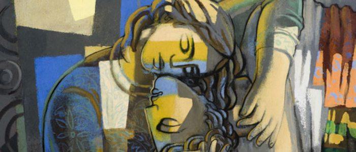 Detalle del mural Amor Nuevo, de Jorge Gay