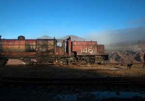 El tren de las minas de Río tinto. Foto: Cristina Candel.