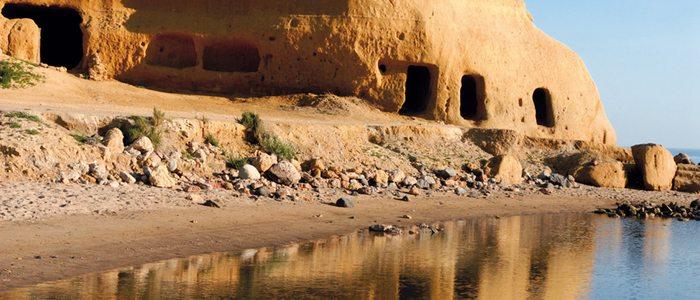 Formaciones rocosas en la bahía de Águilas