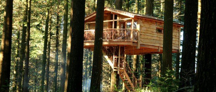 Cabaña Hontza, a 10 metros del suelo