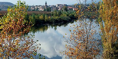 El Ebro a su paso por San Adrián