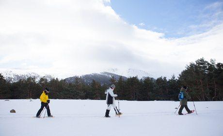 Raquetas en la nieve en Rascafría (Sierra de Guadarrama, Madrid)   Guía Repsol