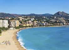 Vista de la playa de Málaga