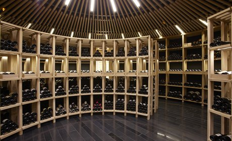 Wine cellar of the restaurant-hotel Atrio