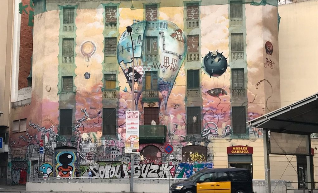 Ruta grafitti Barcelona (La Carbonería), Raval. Foto: Inma Garrido