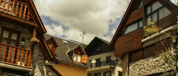 Casa típicas pirenaicas