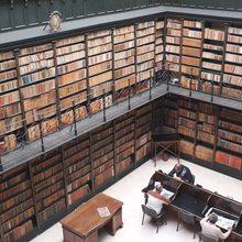 Biblioteca Archivo Municipal de Jerez. Sala investigadores vista desde arriba. Foto: cedida