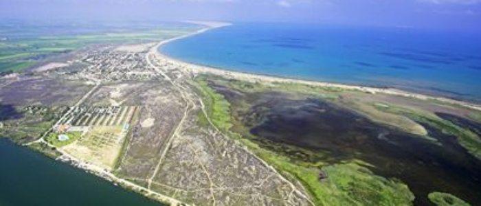 Vista aérea de la laguna
