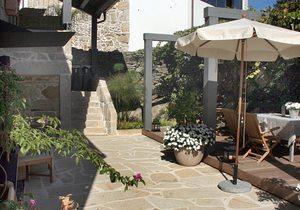 Terraza del Hotel Quinta de San Amaro