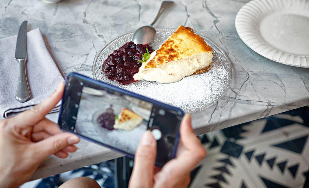 Tarta de queso. Restaurante Gigi. Foto: Roberto Ranero